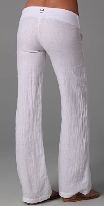 SOLOW Linen Fold Over Pants