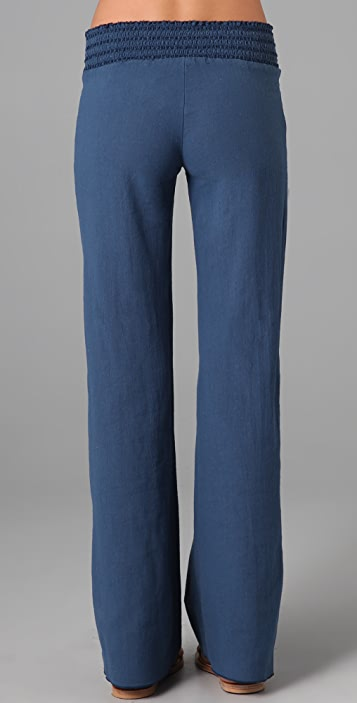 SOLOW Smocked Wide Leg Pants