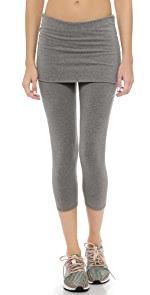Fold Over Cropped Leggings                SOLOW