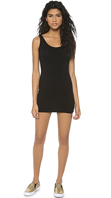 SOLOW Feather Jersey Tank Dress