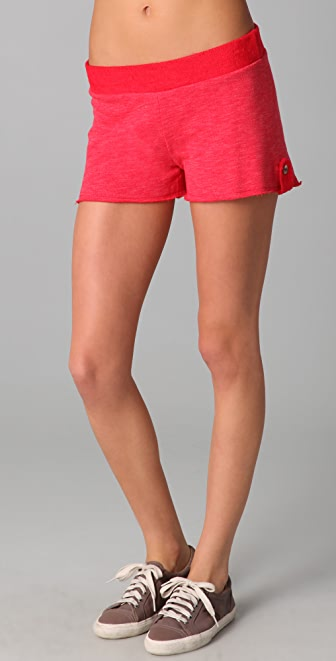 SOLOW French Terry Shorts with Reversible Waist Band