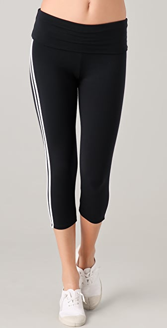 SOLOW Fold Over Sport Cropped Pants