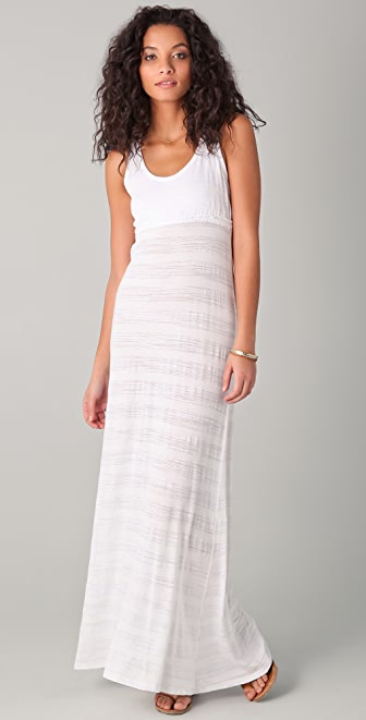 SOLOW Shadow Striped Maxi Dress