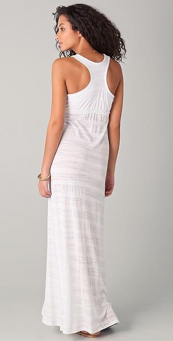 SOLOW Shadow Striped Maxi Dress