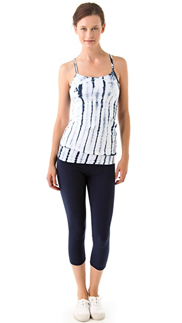 SOLOW Crop Pant with Alligator Tie Dye Waistband