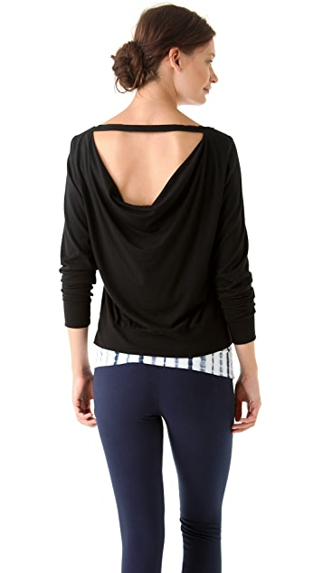 SOLOW Long Sleeve Top with Back Twill Tape