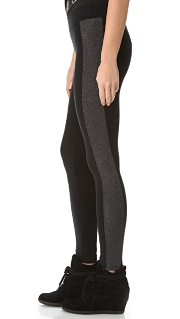 SOLOW Contrast Panel Leggings