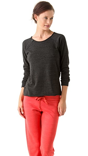 SOLOW Raglan Fleece Pullover
