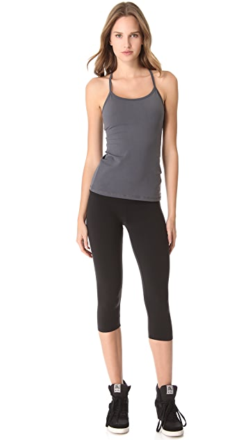 SOLOW Cropped Fold Over Leggings