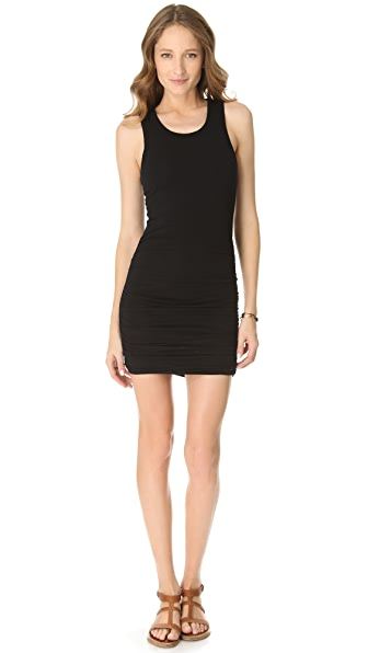 SOLOW Racer Back Shirred Mini Dress