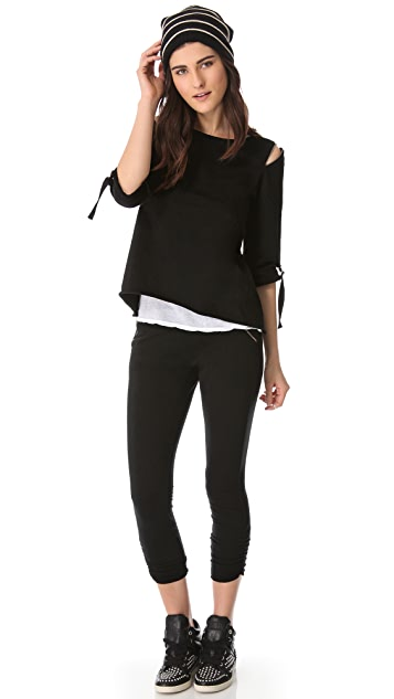 SOLOW Zip Shoulder Pullover