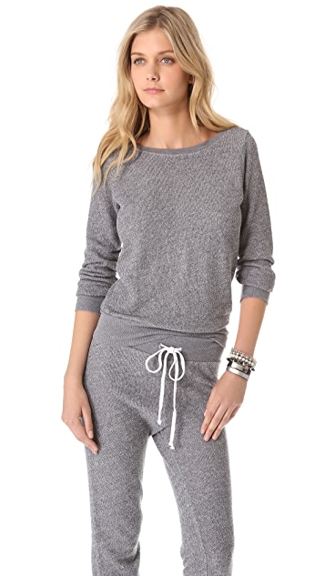 SOLOW Back Twist Pullover