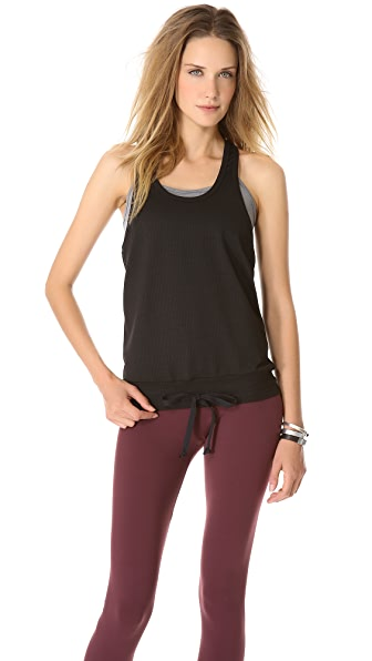 SOLOW Mesh Tank with Contrast Bra
