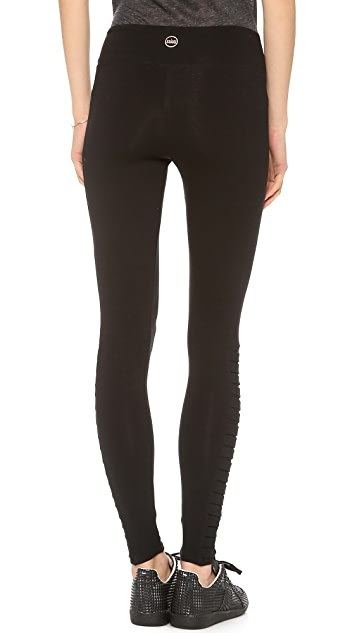 SOLOW Leggings with Side Pleat Detail