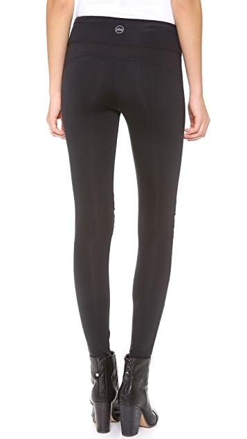 SOLOW Leggings with Pleated Mesh Knee Patches
