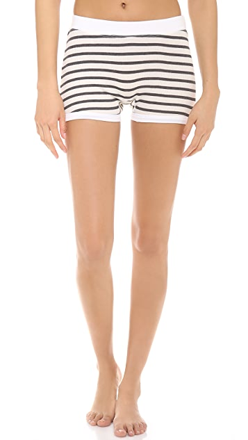 SOLOW Crew Neck Top & Shorts PJ Set