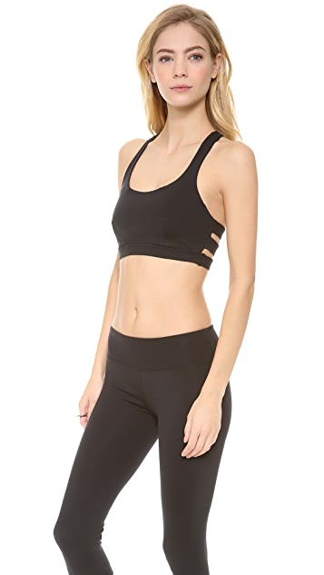 SOLOW Sports Bra with Mesh Racer Back