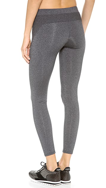 SOLOW Geometric Rib Yoke Leggings