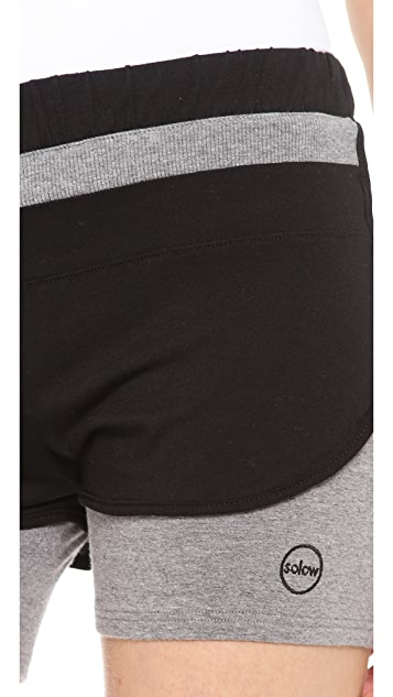 SOLOW Colorblock Running Shorts