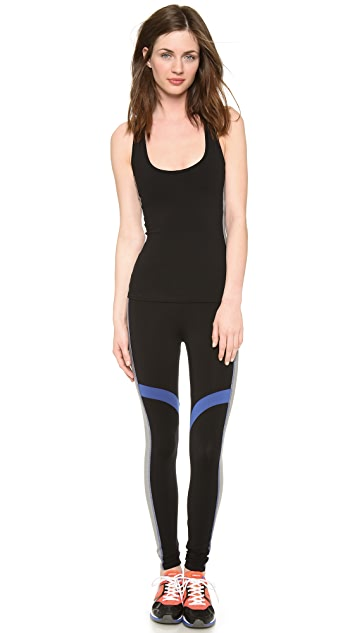 SOLOW Running Pants with Contrast Piecing