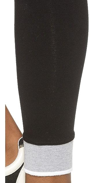SOLOW Striped Cuff Long Leggings