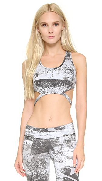 SOLOW Abstract Print Sports Bra