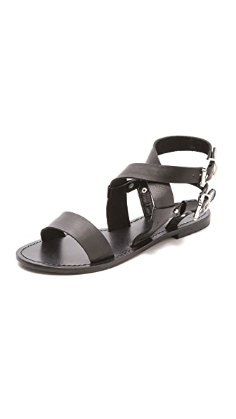 Sol Sana Avery Flat Sandals with Double Ankle Strap
