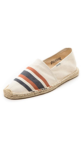 Soludos French Stripe Slip On Espadrilles