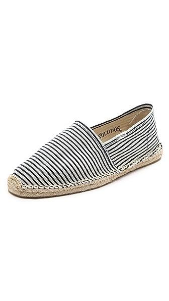 Soludos Fine Stripe Slip On Espadrilles
