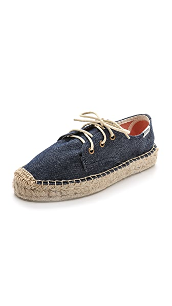 Soludos Platform Derby Lace Up Espadrilles