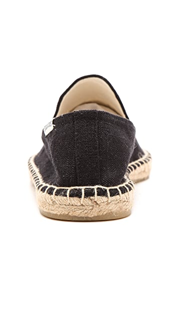 Soludos Linen Smoking Slippers