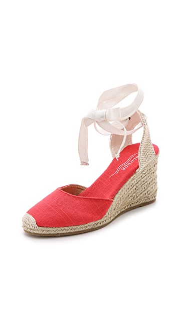 Soludos Linen Wedge Espadrilles