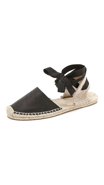 Soludos Classic Leather Espadrille Sandals