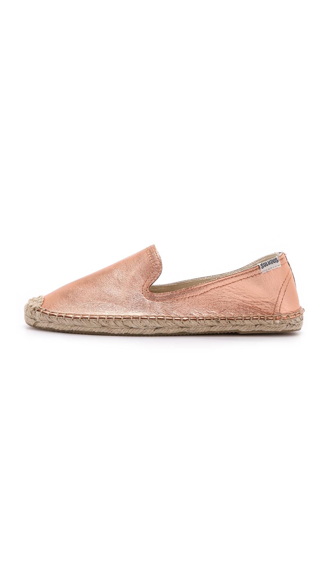 7608d62e8e2 Soludos Metallic Leather Smoking Slipper Espadrilles