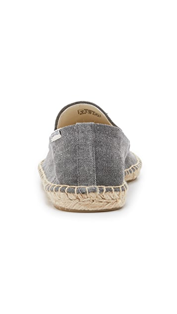 Soludos Washed Canvas Smoking Slippers