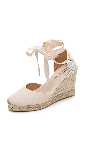 Soludos Tall Wedge Espadrilles - Blush