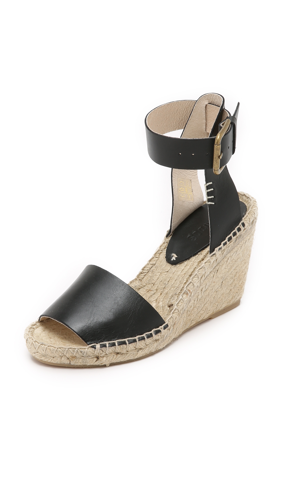 329acdffb5a Check out Soludos Open Toe Wedge Leather Espadrilles - Black - ShopYourWay