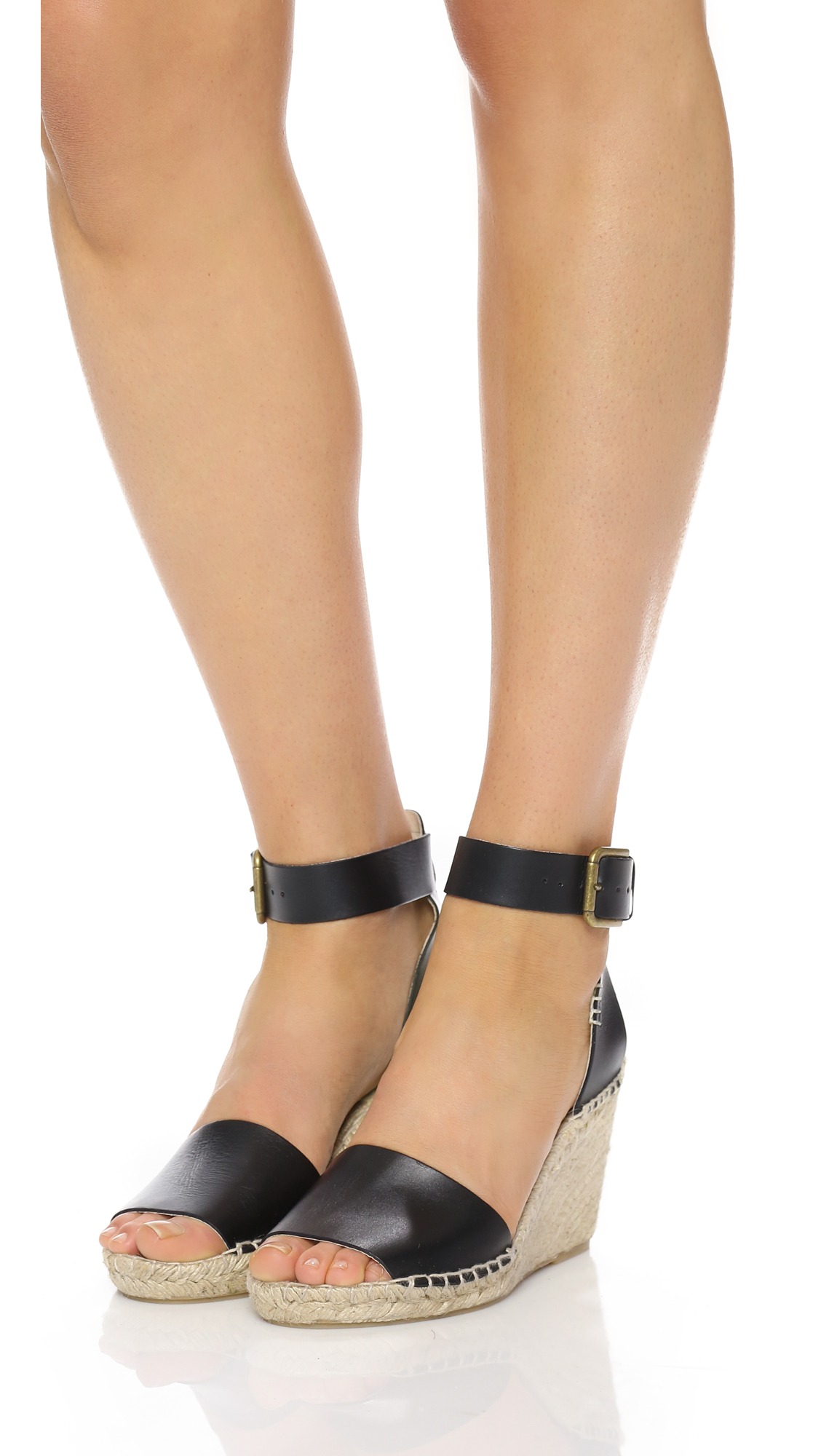 87347adfa0ace Soludos Open Toe Wedge Leather Espadrilles
