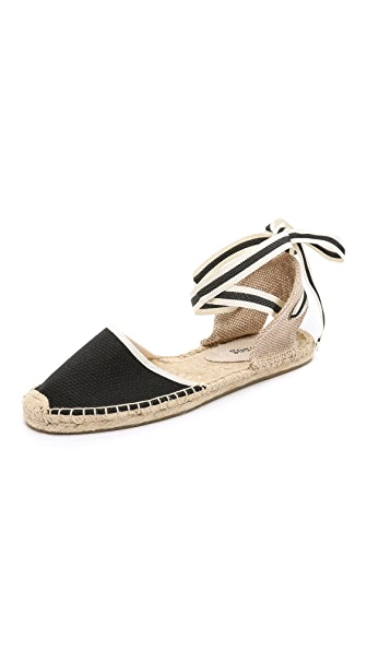 Lace-Up Espadrille Sandal, Black