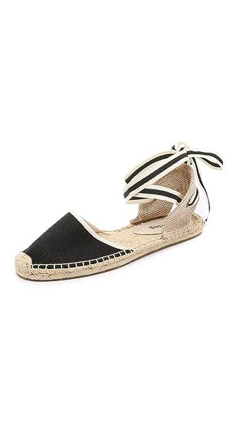 Lace-Up Espadrille Sandal in Black