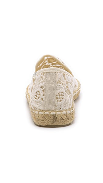 Soludos Low heels Tulip Lace Smoking Slipper Espadrilles