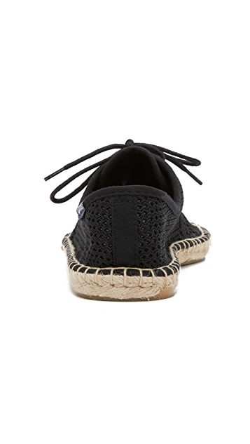 Soludos Mesh Derby Lace Up Espadrilles
