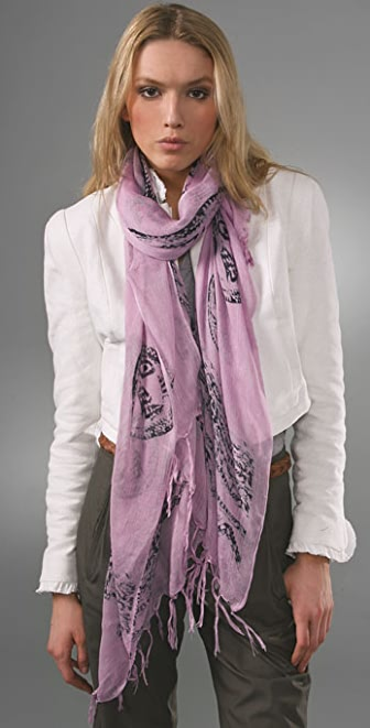 Something Else Tribal Tassel Scarf