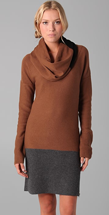 Sonia Rykiel Cowl Neck Sweater Dress