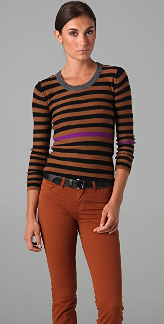 Sonia Rykiel Signature Striped Cashmere Sweater