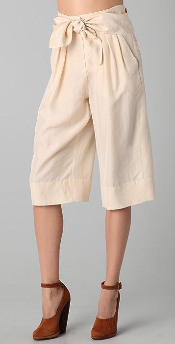Sonia Rykiel Tie Front Cropped Pants