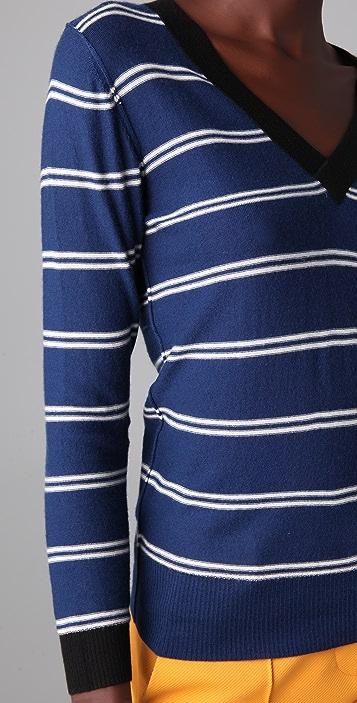 Sonia Rykiel Striped Cashmere Sweater