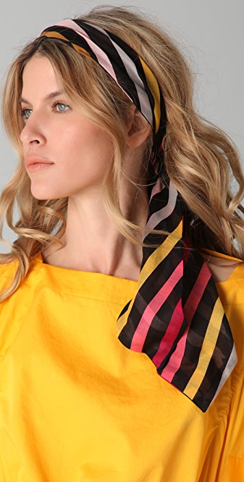 Sonia Rykiel Striped Hair Scarf
