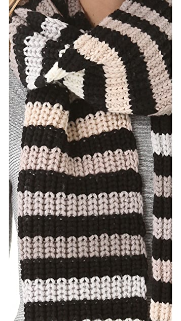 Sonia Rykiel Multico Striped Scarf