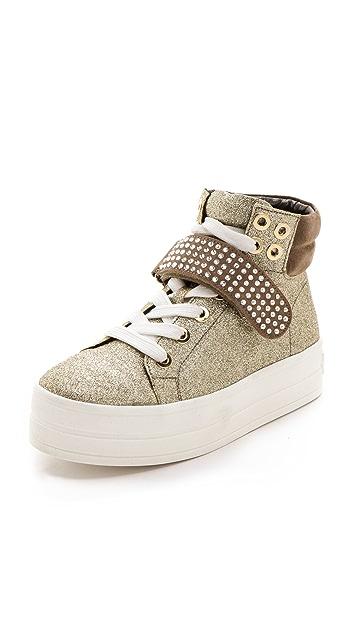 Sonia Rykiel Glitter High Top Sneakers